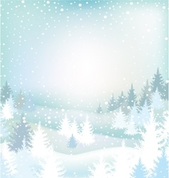 Winter landscape with trees vector image