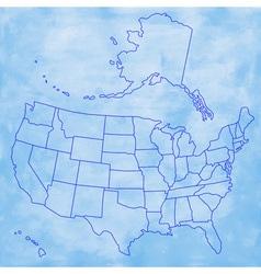 Abstract usa map vector
