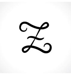 letter z vector image vector image