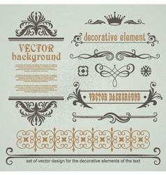 Set of decorative calligraphic elements vector image