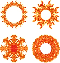 circle of fire vector image