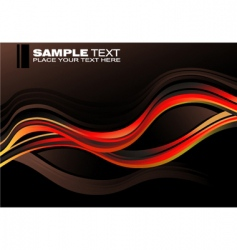 concept waves graphic card vector image