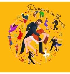 Couple dancing Kizomba in bright costumes vector image vector image
