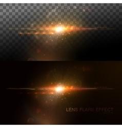 Digital lens flare effect vector image