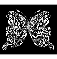 Floral butterfly card vector image