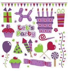 purple decorations vector image