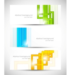 Set of banners with lines vector image