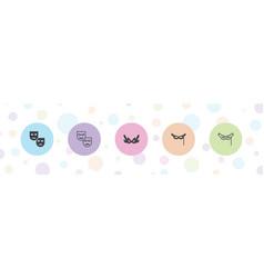 5 masquerade icons vector