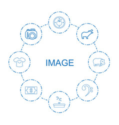 8 image icons vector