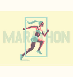 a female athlete is running vector image