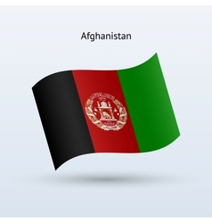 Afghanistan flag waving form vector image