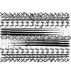 afro ethnic pattern handmade geometric symbols vector image