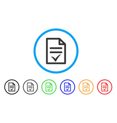 Agreement document rounded icon vector