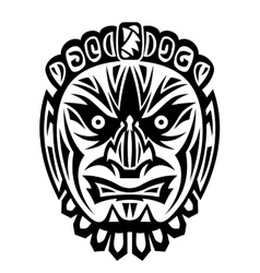 Ancient tribal mask vector image