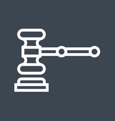 Auction gavel thin line icon vector
