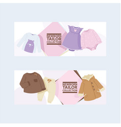 Baby clothing cartoon kids clothes fashion vector