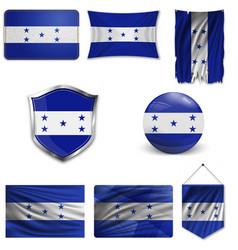 Background honduras flag vector