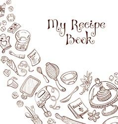 Baking doodle vector