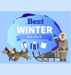 best winter big sale promotional poster vector image