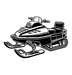 Black and white a snowmobile vector