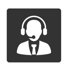 Call center icon vector