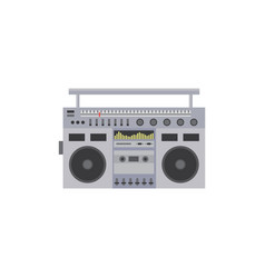 cassette vintage stereo recorder cartoon icon flat vector image