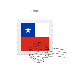 Chile Flag Postage Stamp vector