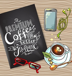 coffee flayer vector image