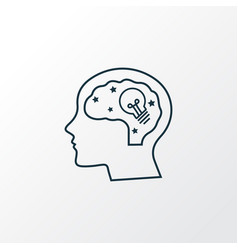 creativity icon line symbol premium quality vector image