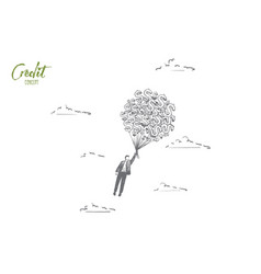 credit concept hand drawn isolated vector image