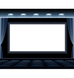 Dark Cinema Hall vector image