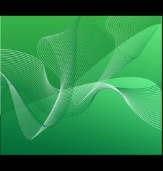 dark green background with bent ribbons a vector image