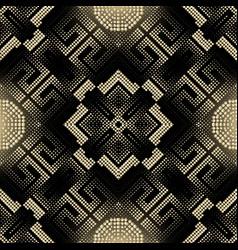 Digital halftone 3d seamless pattern greek style vector