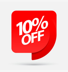 discount with the price is 10 vector image
