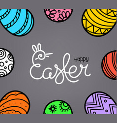 easter greeting card with traditional decoration vector image