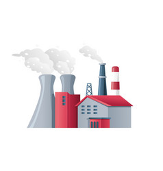 factory air pollution polluted environment vector image
