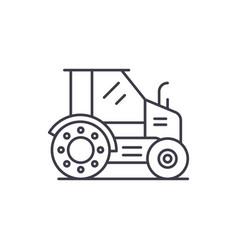 farm tractor line icon concept farm tractor vector image