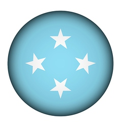 Federated states micronesia flag button vector