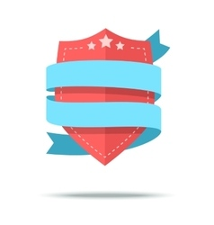 flat style badge icon vector image