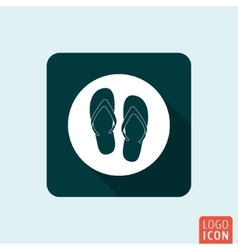 Flip Flop icon isolated vector image