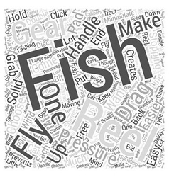 Fly Fishing Reels Word Cloud Concept vector