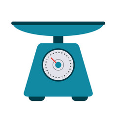 Food scale device vector