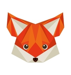 Fox head low poly isolated icon vector