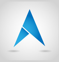 Gps arrow navigation icon vector