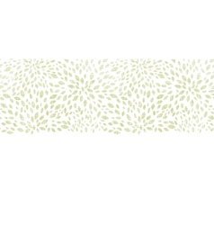 Green leaves explosion textile texture horizontal vector