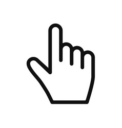 hand cursor icon in modern design style for web vector image