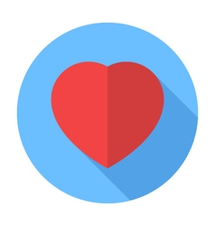 Heart icon Flat Design icon vector image