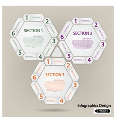 hexagon presentation template vector image