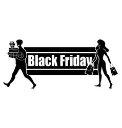 Horizontal logo for black friday day satisfied vector