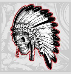Indian skull face vector